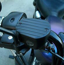 Harley Davidson Sportster Front Master Cylinder Cover Finned Black 2004-2016