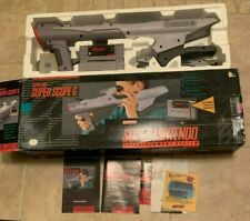 Super Nintendo SNES Super Scope 6 Complete In Box w/ Game Manuals Eye Piece