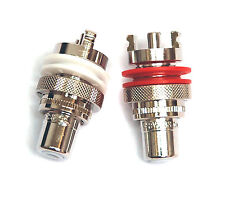 10 pair RCA Audio Female Jack RH Plated Connector CMC 805-2.5CUR-RH Swiss Cu