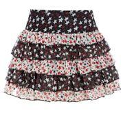 Womens Layered Skirt Ladies Chiffon Short skirts NEW Size 8 10 12 14 Black White