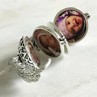 Angel Wings Expanding 4-5 Photo Locket Necklace Pendant Family Friends Jewelry