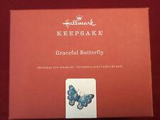 Hallmark Keepsake Ornament 2019 Graceful Butterfly Brilliant Premium Blue Nib