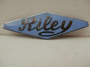 Riley Chrome & Enamel Car Badge.