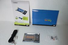 Linksys 2.4GHz Wireless-G Notebook Adapter 802.11bg 54Mbps WEP PCMCIA WPC54G NEW