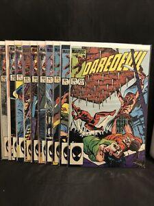 Daredevil Comic Lot #'s 211-220 Marvel Comics