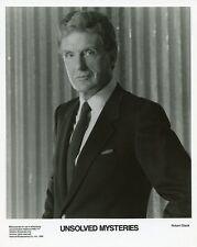 ROBERT STACK PORTRAIT UNSOLVED MYSTERIES ORIGINAL 1989 NBC TV PHOTO