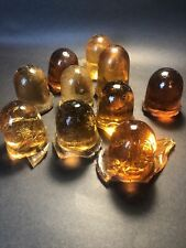Assorted Amber Cullet Glass 5+ Pounds