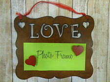 NEW Rustic western metal Love hanging NOTE BOARD OR PICTURE FRAME handmade USA