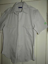 REPLAY SMART DESIGNER SLIM FIT KHAKI S/SLEEVED CASUAL SHIRT L