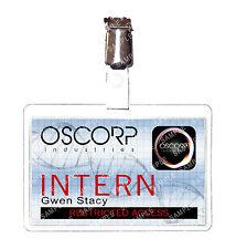 Spiderman Oscorp Industries Gwen Stacy Intern ID Badge Marvel Cosplay Comic Con