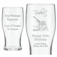 Personalised Pint Beer Glass Birthday Christmas Gifts For Her Him 21st 30th 60th