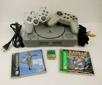 Sony PlayStation 1 PS1 SCPH-9001 Bundle w/ 2 Controllers 2 Games Rayman Bundle