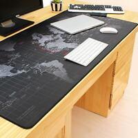 Extra Large Mouse Pad World Map Mousepad Anti-slip Gaming Mouse Mat Locking Edge