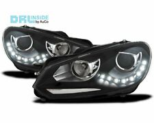 OFFER Headlights LED DRL Inside VW GOLF 6 VI 08-12 Daylight Black IT LPVWG3EM XI