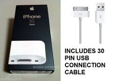 Genuine Apple iPhone 3G / 3GS White Desktop Charger Dock MB484G/A + USB Cable