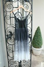 MOTEL ROCKS Faux Leather Bustier Sheer Dress,Goth,Vamp,Emo,Steampunk,Size XS 6-8