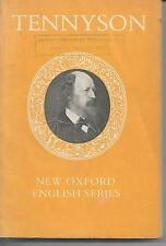 Tennyson Selected Poems chosen & edited by Michael Millgate OUP 1973 good