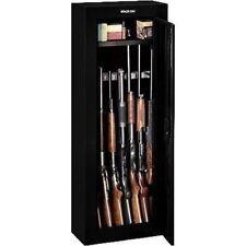 Black 8 Gun Security Cabinet Safe Storage Rifle Shotgun Steel Firearm Ammo Lock