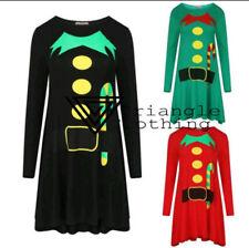 Christmas Short Sleeve Skater Dress Dresses for Women