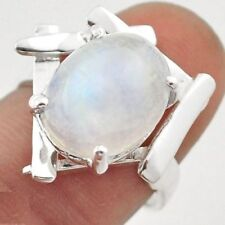 925 STERLING SILVER MOONSTONE RING USA SIZE 7