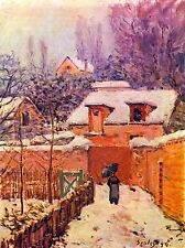 ALFRED SISLEY GARDEN IN SNOW OLD MASTER ART PAINTING PRINT POSTER 088OMA