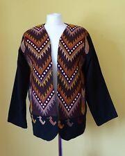 Artes Tipicas Tecum 1970's/80's vintage black unisex cowboy style jacket size 14