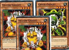 Green Gadget + Red Gadget +Yellow GadgeT YSYR-EN019, EN020, EN021 SET 1st YUGIOH