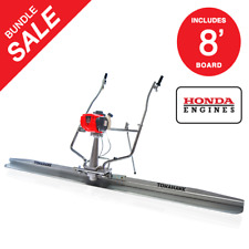 Power Screed Float 8 FT Blade Gas 1.8hp Honda Vibrating Concrete Finishing Tool