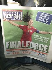 7-3-19 New York Post And Boston Herald USA Beats England World Cup Alex Morgan