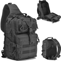 Tactical Sling Backpack Molle Shoulder Bag Military Assault Chest Pack Holder