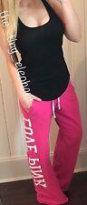 Victoria Secret Love Pink Racerback Tank Top Patch Boyfriend Sweatpants Set VS