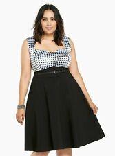 Torrid GINGHAM SWING DRESS Size 18
