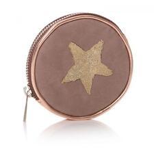 Shruti Coin Purse Beige & Gikd with Star Design Wallet Pouch Money Clutch