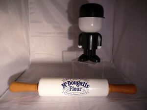 Vintage McDougalls Flour Ceramic rolling Pin and Fred