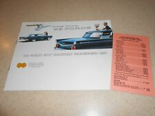 1959 FORD FAIRLANE GALAXIE CUSTOM CATALOG + 59 MODELS OPTIONS & PRICES BROCHURE