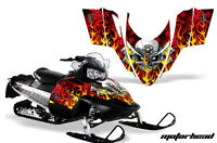 Sled Graphics Kit Decal Sticker Wrap For Polaris Switchback 2006-2010 MOTOHD RED