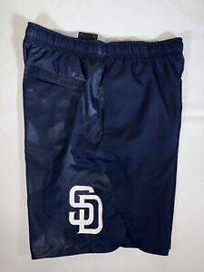Men's Nike Dri-Fit MLB San Diego Padres Athletic Baseball Shorts Size Medium