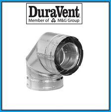 """DURAVENT DirectVent Pro 4"""" x 6-5/8"""" 90 Degree Galvanized Elbow #46DVA-E90"""
