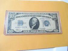 1934 $10 SILVER CERTIFICATE (STAR NOTE) TOUGH FIND