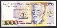 Brazil 1 Cruzado Novo 1989  UNC  P. 216,   Banknotes, Uncirculated
