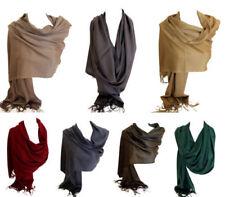 Einfarbige Schale aus 100% Kaschmir für Damen