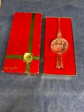 Vintage Lenox Crystal Christmas Treetop Ornament.