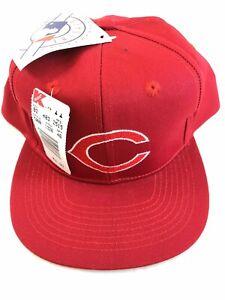 Vtg NWT Cincinnati Reds 90s Snapback Annco MLB Baseball Hat Red GREEN BILL Cap