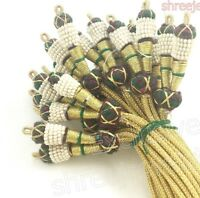 Indian Traditional Jewelry Material Necklace Macking Rope Pearl Double Dori 6 pc