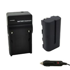 Progo Battery & Charger Set for Sony NP-F550/570, 2600mAh for LED Vedio Light