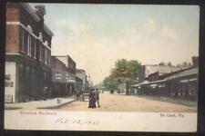 Postcard DE LAND Florida/FL  Woodland Blvd Business Storefronts 1907