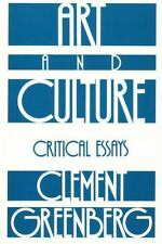 Art and Culture: Critical Essays: By Greenberg, Clement