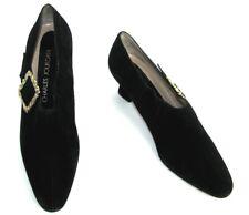 CHARLES JOURDAN Bottines low boots vintage cuir daim suède noir 39.5