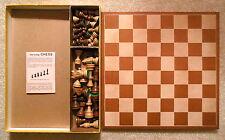 Vintage Drueke's Chess Set No. 2208 Solid Wood Folding Board & Wooden Chessmen