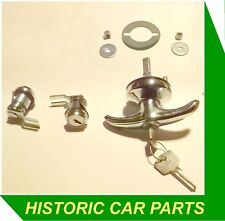 MG MIDGET Mk3 1275 cc 1966-74 -REPLACEMENT 3 PIECE DOOR/BOOT LOCK SET